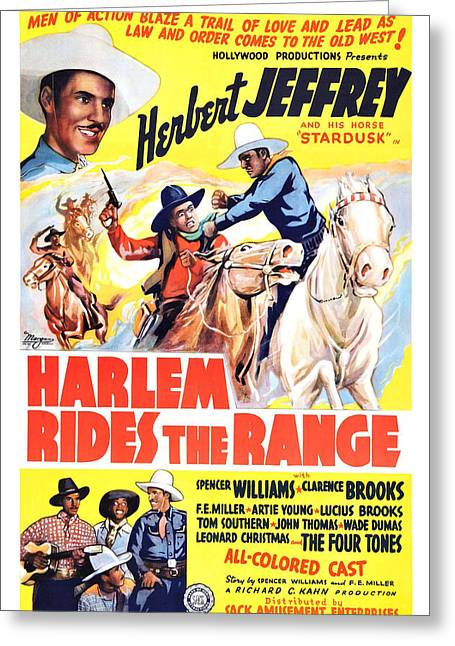 Harlem Rides The Range 1939 Greeting Card
