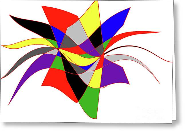 Harlequin Flower Greeting Card by Methune Hively