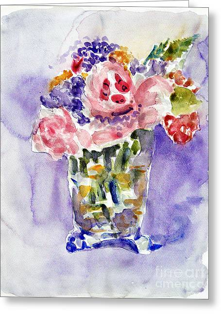 Harlequin Or Bright Side Of Life Greeting Card by Jasna Dragun