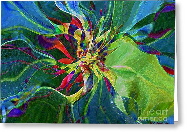 Harlequin Poinsettia Greeting Card by RC DeWinter