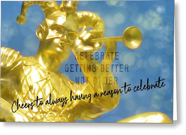 Harlequin Quote Greeting Card by JAMART Photography