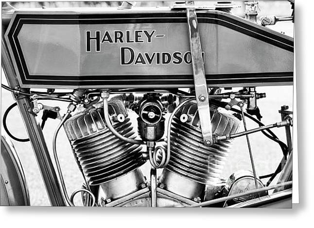 Harley 11f Monochrome Greeting Card by Tim Gainey