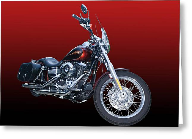 Harley Bike Greeting Card