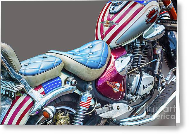 Greeting Card featuring the photograph Harley by Charuhas Images