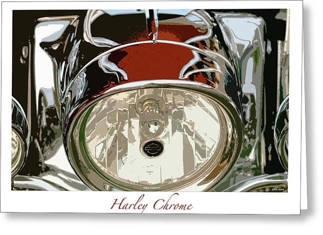 Harley Chrome Greeting Card