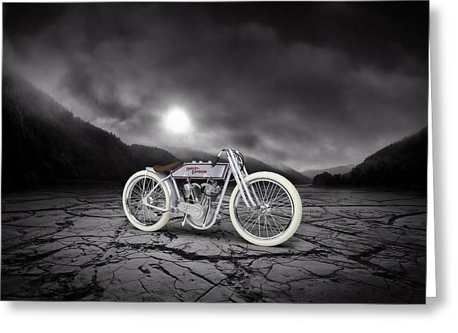 Harley Davidson 11k 1920 Mountains Greeting Card