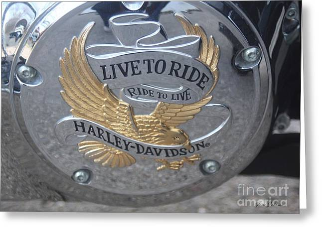 Harley Davidson Accessory Greeting Card