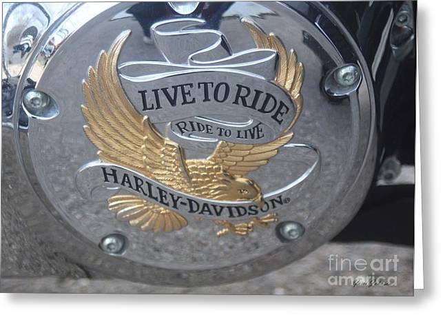 Harley Davidson Accessory Greeting Card by Yumi Johnson