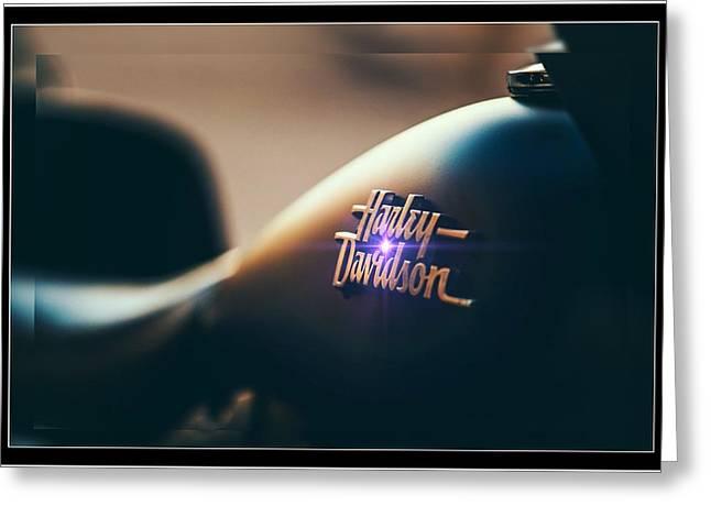 Harley Davidson Cycle Greeting Card