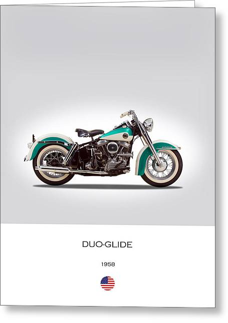 Harley-davidson Duo-glide Greeting Card by Mark Rogan