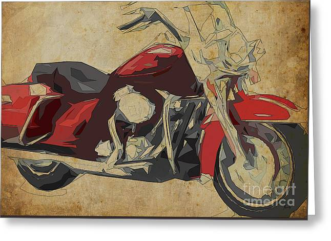 Harley-davidson Flhr Road King - 2013 Greeting Card by Pablo Franchi