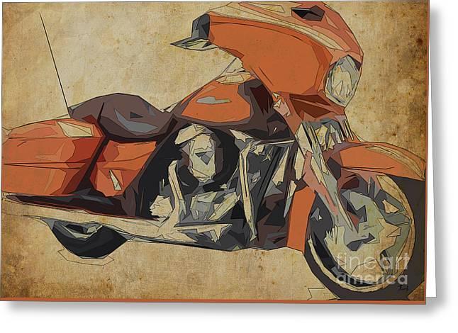Harley Davidson Flhxs Street Glide - 2014 Greeting Card