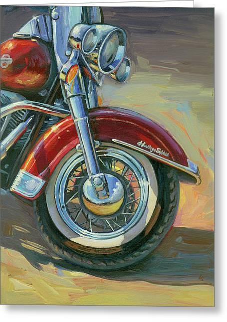Harley-davidson Heritage Softail Greeting Card