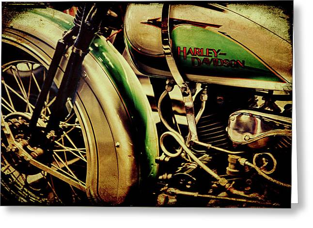 Greeting Card featuring the photograph Harley Davidson by Joel Witmeyer