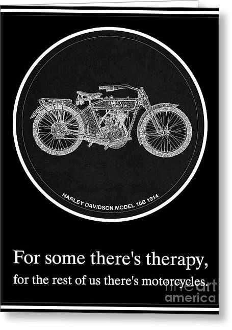 Harley Davidson Model 10b 1914 Motorcycle Quotes Greeting Card by Pablo Franchi