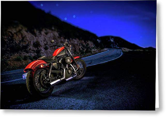 Greeting Card featuring the photograph Harley Davidson Nightster by YoPedro