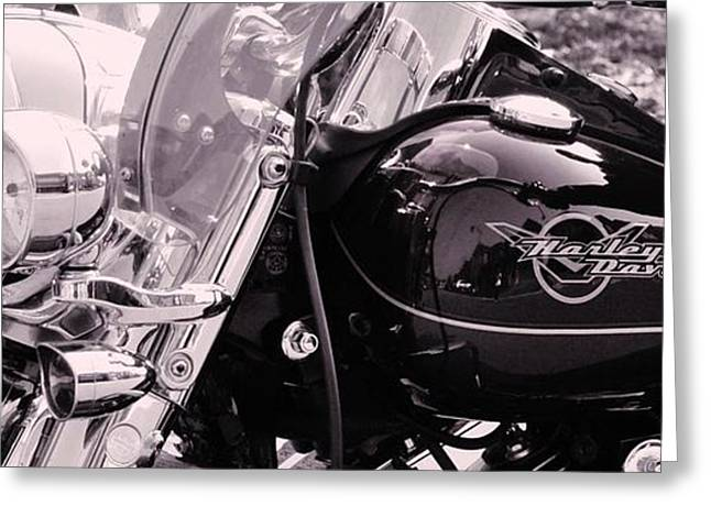 Harley Davidson Road King  Motorcycle Greeting Card