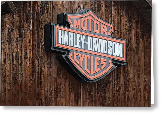 Harley Davidson Sign In West Jordan Utah Photograph Greeting Card