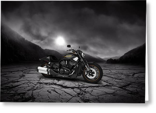 Harley Davidson V-rod 2013  Mountains Greeting Card