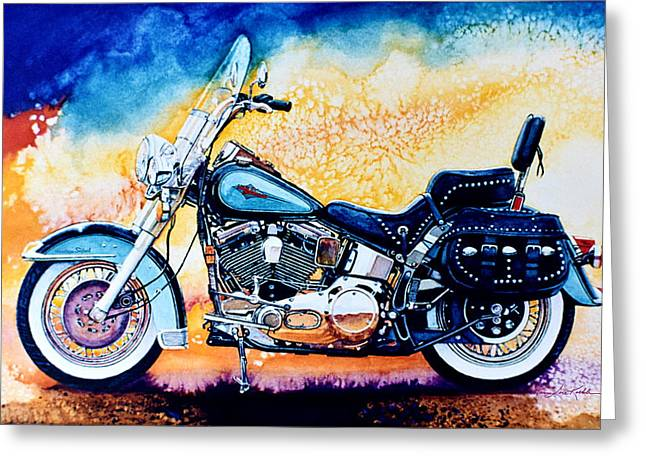 Harley Hog I Greeting Card