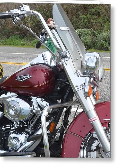 Harley Lights Greeting Card