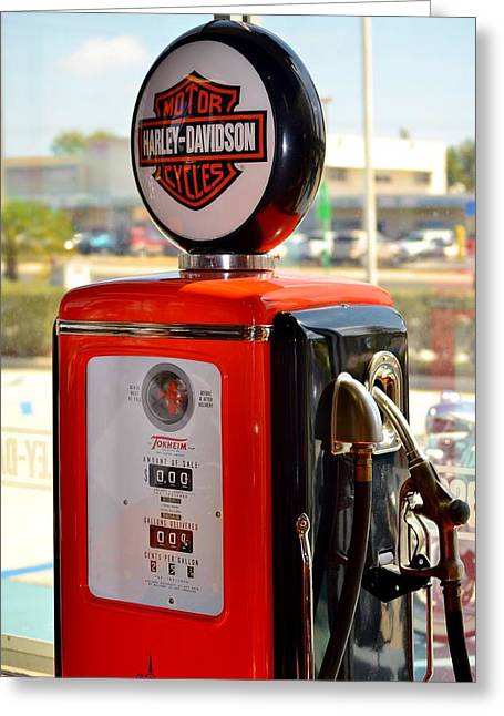 Rene Triay Photography Greeting Cards - Harley Petrol Greeting Card by Rene Triay Photography