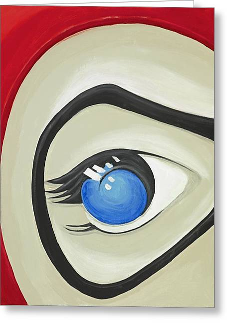 Harley Quinn Eye Greeting Card