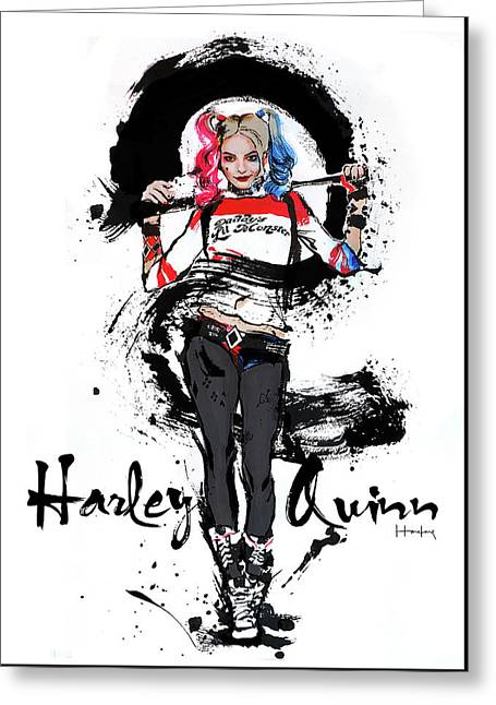 Harley Quinn Greeting Card by Haze Long