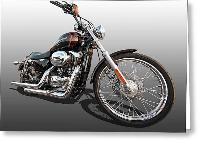 Harley Sportster Xl1200 Custom Greeting Card
