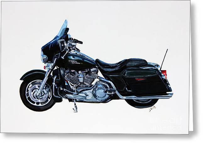 Harley Davidson Street Glide Greeting Card by Janet Felts