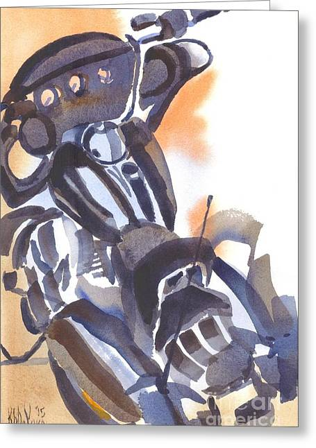 Greeting Card featuring the painting Motorcycle Iv by Kip DeVore