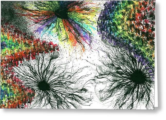 Harmonic Vibes Of The Rainbow Tribe #645 Greeting Card