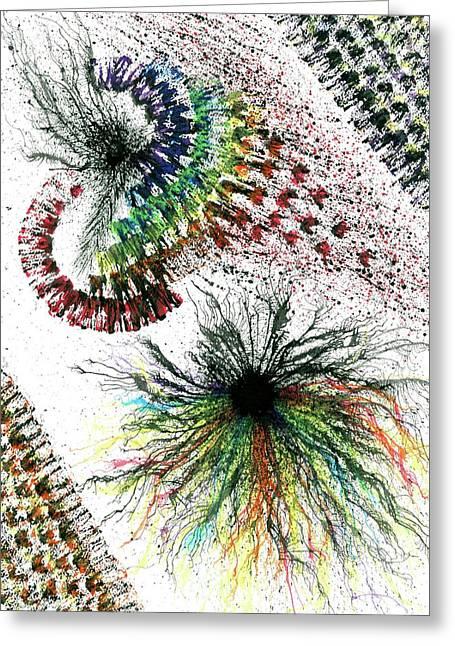 Harmonic Vibes Of The Rainbow Tribe #646 Greeting Card by Rainbow Artist Orlando L aka Kevin Orlando Lau