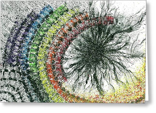Harmonic Vibes Of The Rainbow Tribe #647 Greeting Card by Rainbow Artist Orlando L aka Kevin Orlando Lau