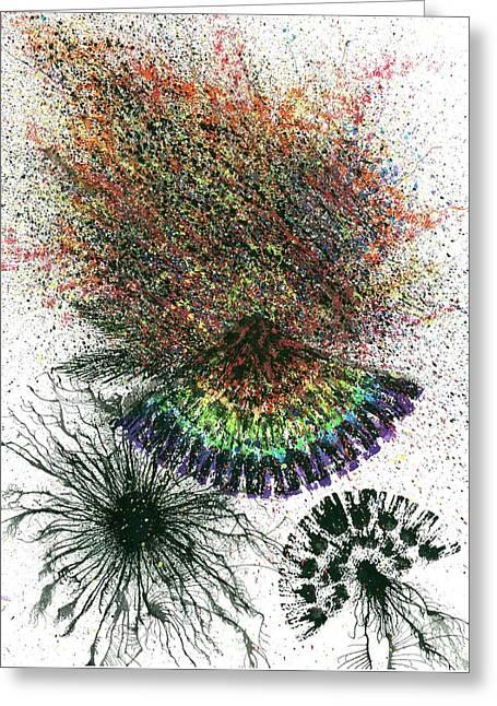 Harmonic Vibes Of The Rainbow Tribe #649 Greeting Card by Rainbow Artist Orlando L aka Kevin Orlando Lau