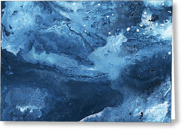 Harmonious Blues- Art By Linda Woods Greeting Card