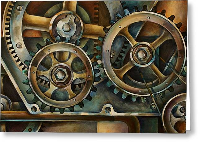 Gear Paintings Greeting Cards - Harmony 2 Greeting Card by Michael Lang
