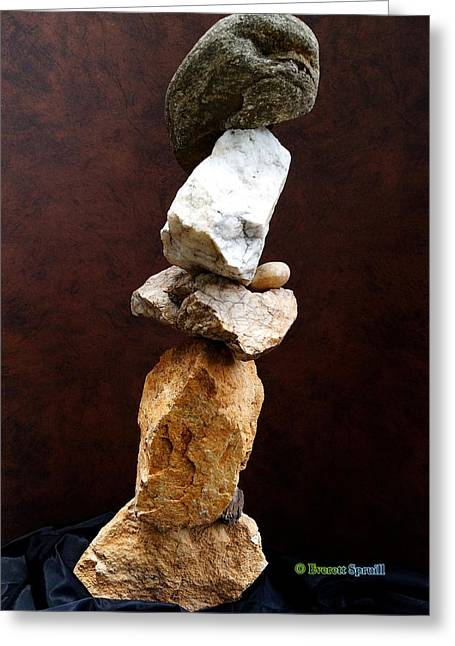 Harmony And Balance #3 Greeting Card by Everett Spruill