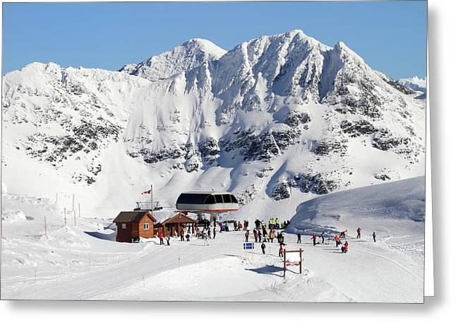 Harmony Chair  Whistler Blackcomb Greeting Card by Pierre Leclerc Photography