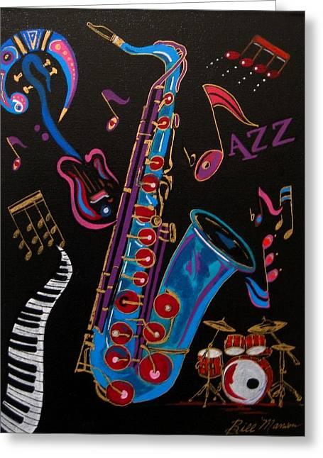 Harmony In Jazz Greeting Card
