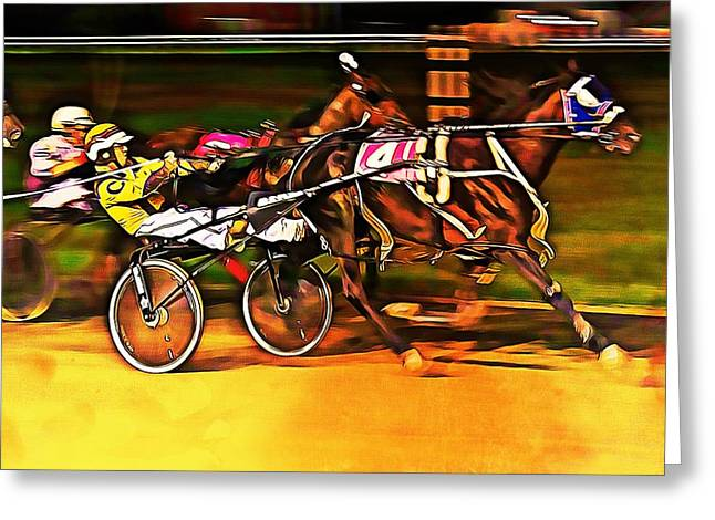 Harness Race #2 Greeting Card