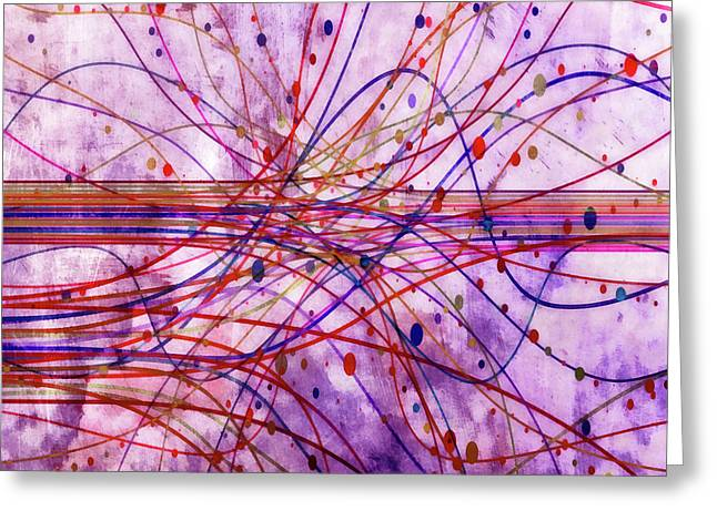 Greeting Card featuring the digital art Harnessing Energy 2 by Angelina Vick