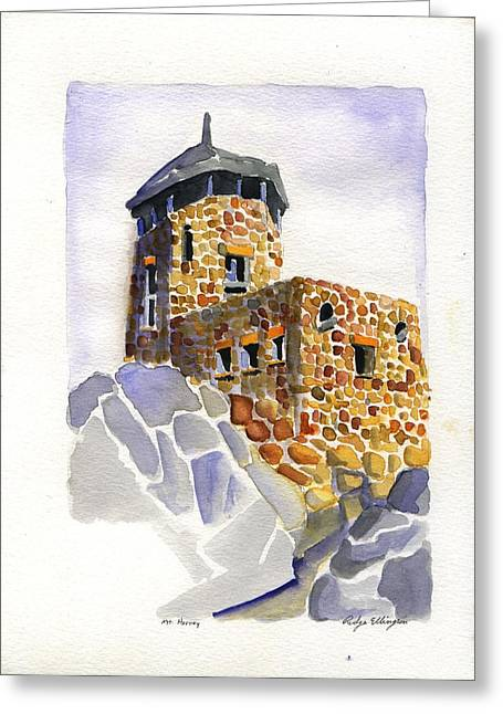 Harney Peak Greeting Card by Rodger Ellingson