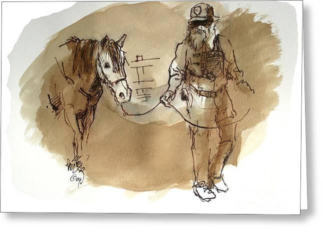 Harold The Morgan Horse Ranch Boss Prns Greeting Card