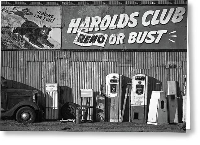 Harold's Club Greeting Card by Marius Sipa