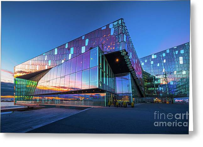 Harpa Concert Hall Greeting Card