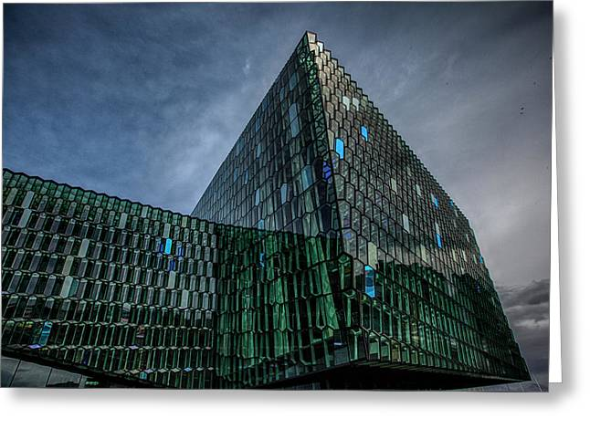 Harpa Greeting Card by Wade Courtney