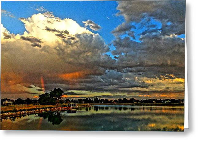 Greeting Card featuring the photograph Harper Lake by Eric Dee