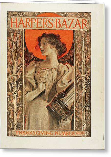 Harper's Bazar Greeting Card by Celestial Images