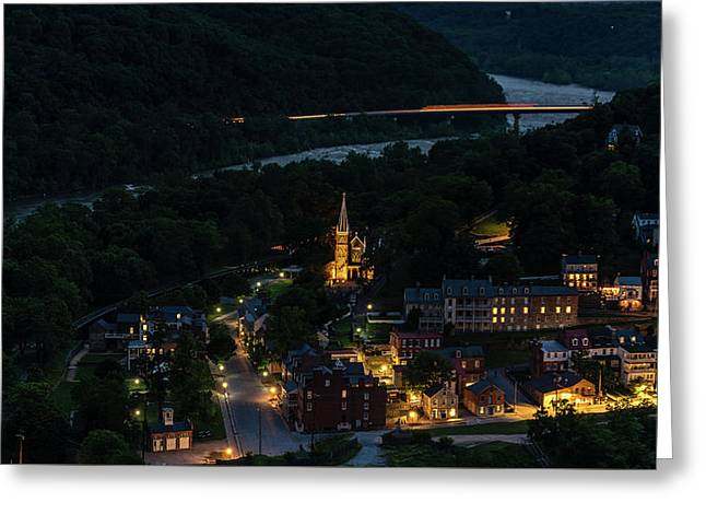 Harpers Ferry At Dusk Greeting Card
